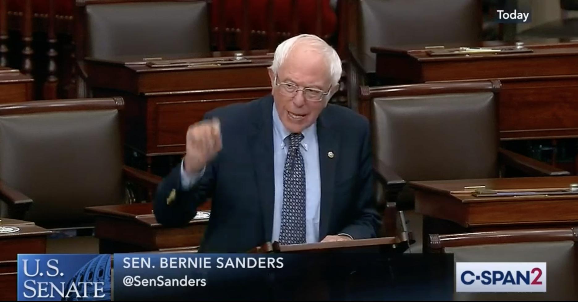 Senate Floor Speech By Bernie Sanders, Marijuana Legalization To Jumpstart Policing Reform